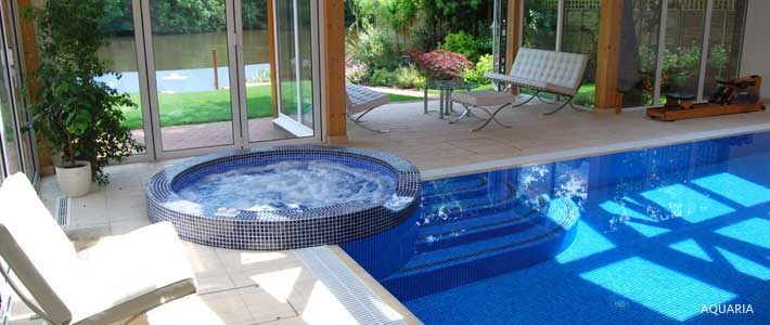 Economical swimming pool buildings Christopher Hunt Farnham Berks