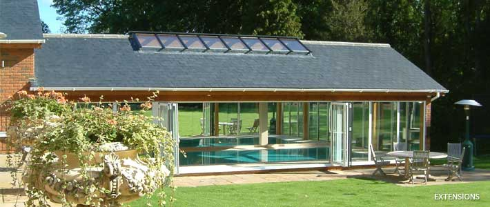 swimming pool house extension Christopher Hunt Marlow