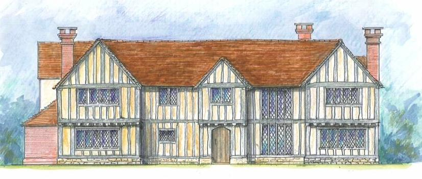 artists impression of home extension within green belt chp marlow bucks